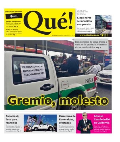 Edición impresa de Quito