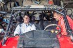 Copiloto de lujo corre en el Rally Dakar