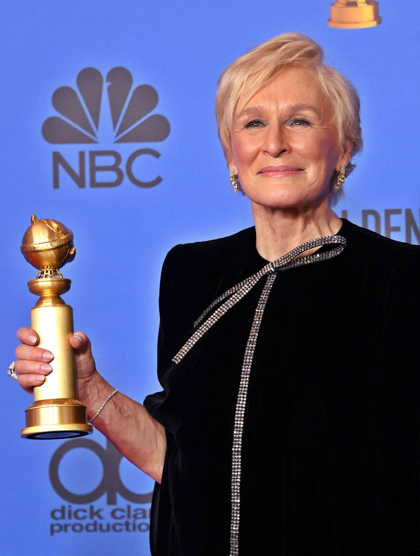"""Glenn Close logró un premio por su actuación en el filme dramático """"The Wife""""."""
